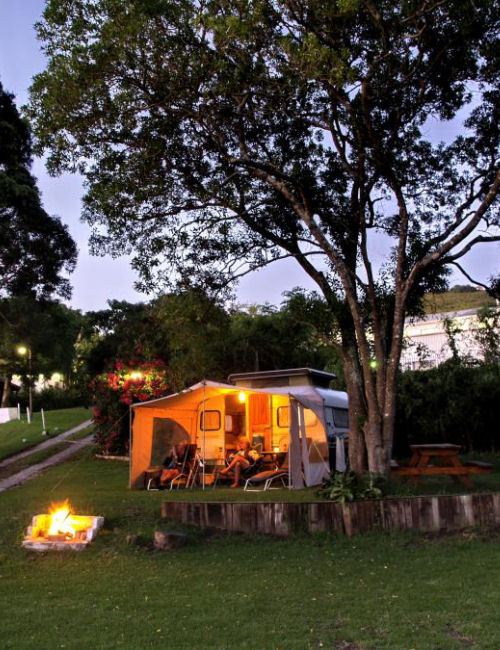 Camp sites at Monks Holiday Park Knysna